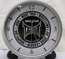 Pendule murale horloge 20cms TAPOUT MMA MUAY THAI noir ARTS MARTIAUX BOXE JUDO