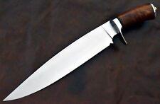 Aangepaste handgemaakte D2 staal jacht Bowie mes met palissander handvat.