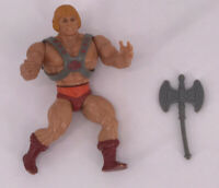 Vintage 1981 Masters of the Universe Complete Figure MOTU He-Man Soft Head Axe