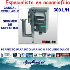 filtro mochila externo exterior acuario HBL-301 cascada marino dulce pecera 300L