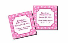 20 Personalized Baby Shower Girl Umbrella Favor Labels Stickers Glossy