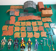 Fortnite toys - figures, blasters, pickaxes, 73 Pieces Of building materials