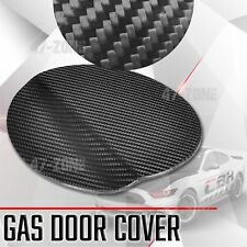 For 15-17 Ford Mustang Gloss Real Carbon Fiber Gas door Cover Overlay Trim