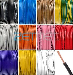 Tri Rated 1mm 1.5mm 2.5mm Cable Electrical Panel Auto Marine Car Van Loom Wire