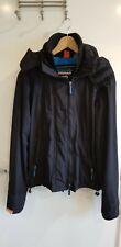 "Jacket SUPERDRY WIND CHEATER S triple zip black 36-38"" 8 10 chest blue fleece"
