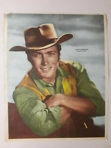 """CLINT EASTWOOD! - """"RAWHIDE"""" - ORIGINAL POSTER CANAL TV - ARGENTINA 1960's"""