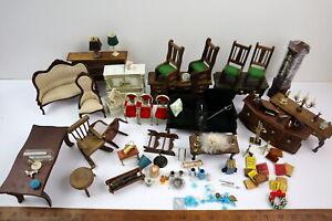 Huge Lot Vtg Dollhouse Furniture & Miniature Accessories 1:12 - Some Damaged