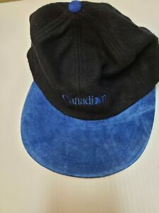 CANADIAN AIRLINES BASEBALL CAP NEW. (  BLACK & BLUE ) UNUSED.