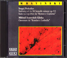 Evgeny MRAVINSKY: PROKOFIEV Symphony 6 Romeo & Juliet GLINKA Russlan Ludmilla CD
