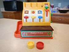 VINTAGE FISHER PRICE 1974 # 926 CASH REGISTER WITH 2 COINS