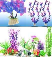 Grass Aquarium Plastic Water Plants Landscaping Ornament Fish Tank Decor 2pcs hs