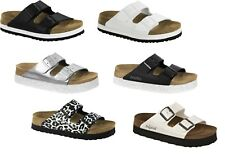 PAPILLIO BIRKENSTOCK ARIZONA-PLATEAU BLACK WHITE PLATFORMS SANDALS FLIP-FLOPS