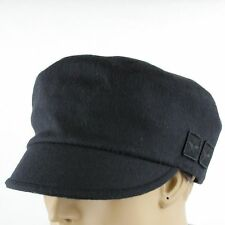 $395 New Gucci Black Wool Cap with Military Badges S 386814 1000