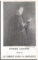 CPA 75 - Paris - Pierre LHANDE auteur de LE CHRIST dans la banlieue (carte pub )