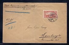 1920 Slesvig Schleswig Germany Cover, SC 14 MI 14 Red 10 Mark - Elusive*