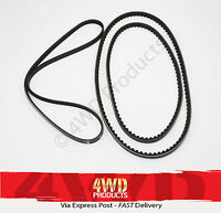 Fan/Drive Belt SET for Mitsubishi Pajero NF NG NH NJ NK 3.0-V6 6G72 (88-97)