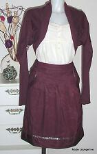 NOA NOA - Rock skirt bordeaux - Variety Viscose -Gr. XS 34 - lila viola - NEU
