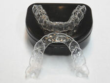 *2*Premium Essix Plus Custom Clear Dental Teeth Retainers *Upper & Lower+Case
