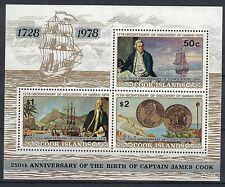 COOK ISLANDS:1978 SC#501a S/S MNH 250th anniv. of Capt. Cook's birth