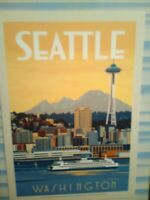 BEAUTIFUL PHOTO POST CARD TOURIST COURTS AERIAL VIEW SEATTLE WASHINGTON