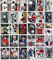 Game Used Jersey Cards Choose From List SP Authentic Upper Deck Titanium NHL