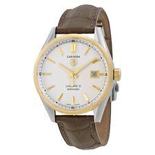Tag Heuer Carrera Men's 18K Gold Bezel Calibre 5 Automatic Watch WAR215B.FC6181