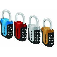 BLU 4Dial Combo Padlock,No PL-096-A1,  Wordlock Inc