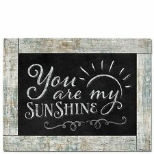 "YOU ARE MY SUNSHINE Primitive Wood Hanging Sign 8.75"" x 11.5"""