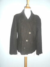 20 3/11 AUST Ladies Blazer Jacket Size 40 Virgin wool brown dark brown Boucle