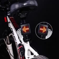 64 Led Bike Turn Signal Intelligent Steering Light Rear Tail Light USB Recharge