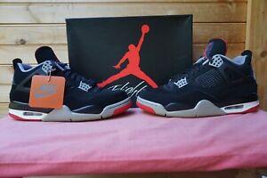 "2019 Nike Air Jordan 4 Retro ""Bred"" Size 8.5 (3012) 308497-060"