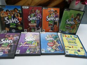 The Sims 2 Bundle - Base Game + 7 Expansion & Stuff Packs - PC CD-ROM DVD