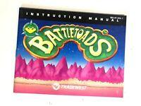 Tradewest Battletoads Original Nintendo NES Instruction Booklet Manual Book OG!