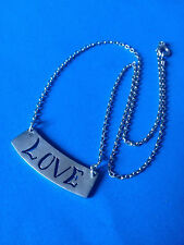 Collier Chaine Pendentif Argent 925 LOVE / Sterling LOVE Necklace