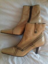 Barratt Light Brown Tan Leather Boots Size 7