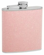 6oz Pink Glitter Hip Flask; Shimmers in the Light!