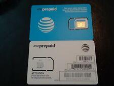 At&T Go Phone Nano Sim Card 4G Lte sim. Triple Cut (3 In 1) Ships Same Day Paid!