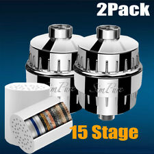 2 Pack Shower Head Filter Water Cartridge Softener Hard Water Chlorine Purifier