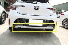 For Toyota Corolla Auris E210 5D Hatchback Bumper Exhaust Diffuser Bodykit Black