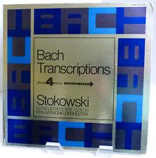 "1973 Stokowski ""Bach Transcriptions"" London Phase 4 SPC 21096 Mint Stereo LP"