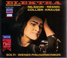 STRAUSS: ELEKTRA Birgit Nilsson Regina Resnik Tom Krause Marie Collier SOLTI 2CD