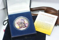 1971 Defenders Of Freedom Coloured American Dollar in Box COA