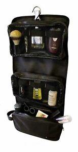 Mens Travel Hanging Wash Bag Gents Toiletry Shower Shaving Case Black