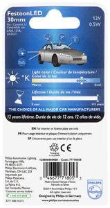 New Philips Festoon 30mm 6000K Led Bulb Map License Plate Dome 12V 0.5W