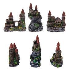 1Pc Aquarium Polyresin Castle Ornament Tower Fish Tank Decoration Accessories