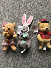 disney store Winnie The Pooh Character Bundle Of Three Toys