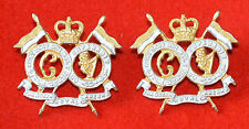 British Army. 16/5th Lancers Genuine Officer's Collar Badges