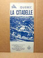 1950s La Citadelle Travel Brochure Quebec Canada Fort Canadian Vintage