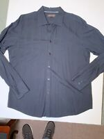 XL Ben Sherman Black Long Sleeve Shirt With Ribbed Finish. Great Condition