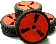 Châssis, transmissions et roues rouges pour véhicule radiocommandé 1/8